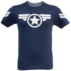 Camiseta azul oscuro de Capitán América - Las mejores camisetas del Capitán América - Camisetas de Marvel