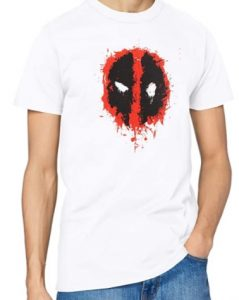 Camiseta blanca de logo de Deadpool - Las mejores camisetas de Deadpool - Camisetas de Marvel