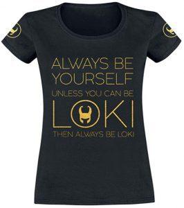Camiseta de Always be Yourself de Loki - Las mejores camisetas de Loki - Camisetas de Marvel