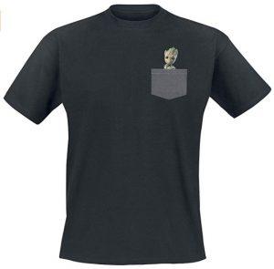 Camiseta de Baby Groot en el bolsillo - Las mejores camisetas de Groot de Guardianes de la Galaxia - Camisetas de Baby Groot
