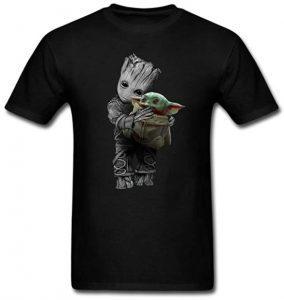 Camiseta de Baby Groot y Baby Yoda - Las mejores camisetas de Groot de Guardianes de la Galaxia - Camisetas de Baby Groot