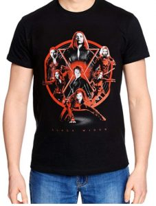 Camiseta de Black Widow collage - Las mejores camisetas de Black Widow - Viuda Negra - Camisetas de Marvel