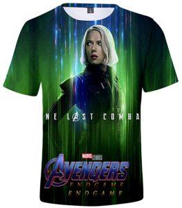 Camiseta de Black Widow en End Game - Las mejores camisetas de Black Widow - Viuda Negra - Camisetas de Marvel