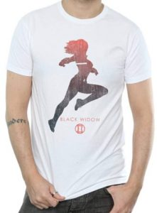 Camiseta de Black Widow silueta - Las mejores camisetas de Black Widow - Viuda Negra - Camisetas de Marvel