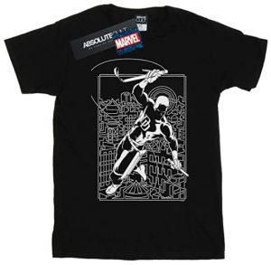 Camiseta de Daredevil en blanco y negro - Las mejores camisetas de Daredevil - Camisetas de Marvel