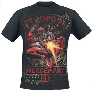 Camiseta de Deadpool mercenario - Las mejores camisetas de Deadpool - Camisetas de Marvel
