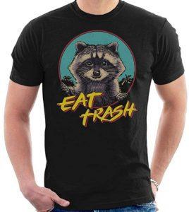 Camiseta de Eat Trash - Las mejores camisetas de Rocket de Guardianes de la Galaxia - Camisetas de Marvel
