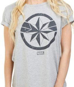 Camiseta de Escudo de Capitana Marvel - Las mejores camisetas de Capitana Marvel - Camisetas de Marvel