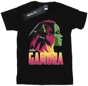 Camiseta de Gamora negra - Las mejores camisetas de Gamora de Guardianes de la Galaxia - Camisetas de Marvel