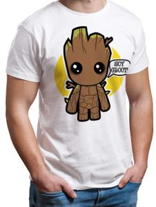 Camiseta de Groot Kawaii - Las mejores camisetas de Groot de Guardianes de la Galaxia - Camisetas de Baby Groot