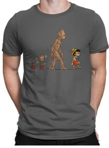 Camiseta de Groot Pinocho - Las mejores camisetas de Groot de Guardianes de la Galaxia - Camisetas de Baby Groot