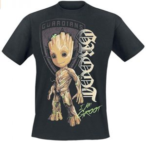 Camiseta de Groot con escudo - Las mejores camisetas de Groot de Guardianes de la Galaxia - Camisetas de Baby Groot