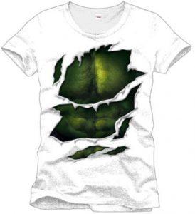 Camiseta de Hulk blanca y verde - Las mejores camisetas de Hulk - Camisetas de Marvel