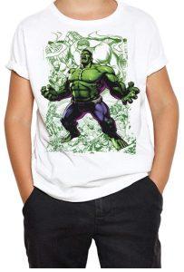 Camiseta de Hulk blanca y verde para niños - Las mejores camisetas de Hulk - Camisetas de Marvel