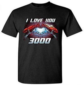 Camiseta de I Love You 3000 de Iron man - Las mejores camisetas de Iron man - Camisetas de Marvel