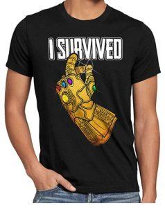 Camiseta de I Survived de Thanos - Las mejores camisetas de Thanos - Camisetas de Marvel