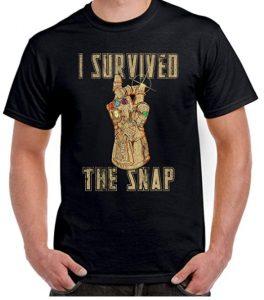 Camiseta de I Survived the Snap de Thanos - Las mejores camisetas de Thanos - Camisetas de Marvel