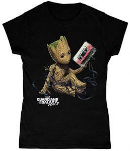 Camiseta de Music Groot - Las mejores camisetas de Groot de Guardianes de la Galaxia - Camisetas de Baby Groot