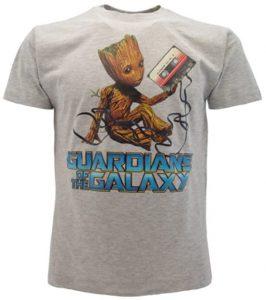 Camiseta de Music Groot gris - Las mejores camisetas de Groot de Guardianes de la Galaxia - Camisetas de Baby Groot