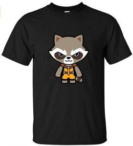 Camiseta de Rocket Kawaii - Las mejores camisetas de Rocket de Guardianes de la Galaxia - Camisetas de Marvel