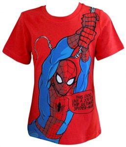 Camiseta de Spider-man colgandose - Las mejores camisetas de Spiderman -Spider-man - Camisetas de Marvel