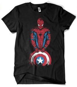 Camiseta de Spiderman con el escudo - Las mejores camisetas de Spiderman -Spider-man - Camisetas de Marvel