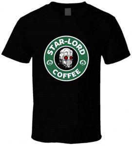 Camiseta de Star Lord Coffee - Las mejores camisetas de Star-Lord de Guardianes de la Galaxia - Camisetas de Marvel