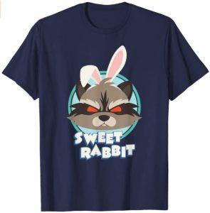 Camiseta de Sweet Rabbit - Las mejores camisetas de Rocket de Guardianes de la Galaxia - Camisetas de Marvel