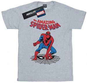 Camiseta de The Amazing Spiderman gris - Las mejores camisetas de Spiderman -Spider-man - Camisetas de Marvel