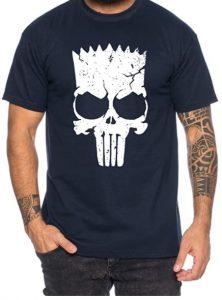 Camiseta de The Punisher Bart Simpson - Las mejores camisetas de The Punisher - Camisetas de Marvel