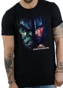 Camiseta de Thor y Hulk Ragnarok - Las mejores camisetas de Thor - Camisetas de Marvel