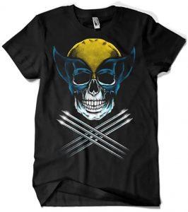 Camiseta de Wolverine calavera - Las mejores camisetas de Lobezno - Wolverine - Camisetas de Marvel