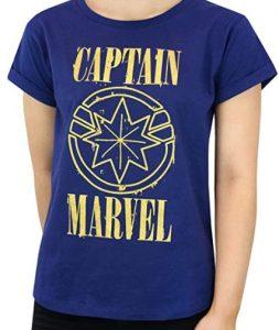 Camiseta de azul de Captain Marvel - Las mejores camisetas de Capitana Marvel - Camisetas de Marvel