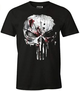 Camiseta de calavera con sangre de The Punisher - Las mejores camisetas de The Punisher - Camisetas de Marvel