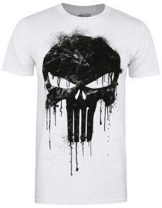 Camiseta de calavera de The Punisher inversa - Las mejores camisetas de The Punisher - Camisetas de Marvel