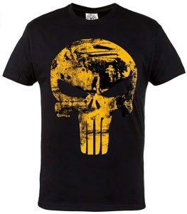 Camiseta de calavera dorada de The Punisher - Las mejores camisetas de The Punisher - Camisetas de Marvel
