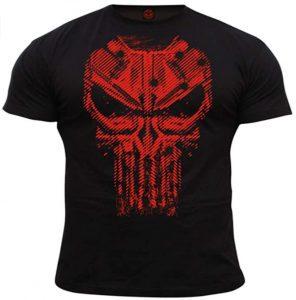 Camiseta de calavera roja de The Punisher - Las mejores camisetas de The Punisher - Camisetas de Marvel