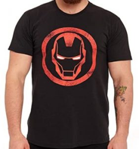 Camiseta de casco de Iron man redondo - Las mejores camisetas de Iron man - Camisetas de Marvel