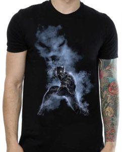 Camiseta de humo de Black Panther - Las mejores camisetas de Black Panther - Camisetas de Marvel