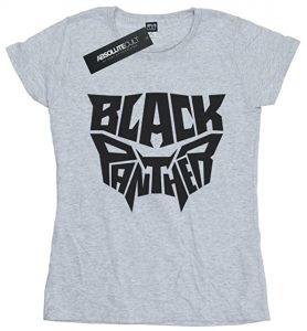 Camiseta de letras de Black Panther - Las mejores camisetas de Black Panther - Camisetas de Marvel