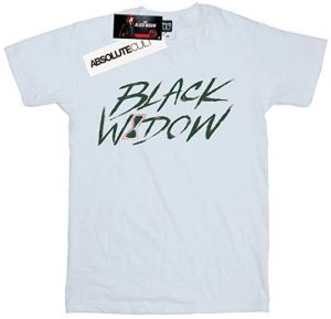 Camiseta de letras de Black Widow - Las mejores camisetas de Black Widow - Viuda Negra - Camisetas de Marvel