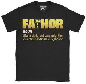 Camiseta de letras de FaThor - Las mejores camisetas de Thor - Camisetas de Marvel