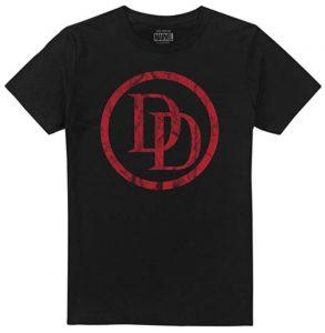 Camiseta de logo de Daredevil negro - Las mejores camisetas de Daredevil - Camisetas de Marvel