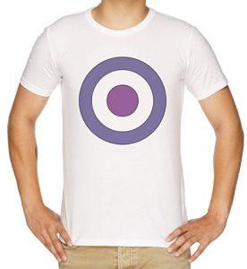 Camiseta de logo de Ojo de Halcón blanco - Las mejores camisetas de Hawkeye - Ojo de Halcón - Camisetas de Marvel