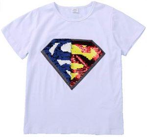Camiseta de logo de Superman de lentejuelas - Las mejores camisetas de Superman - Camisetas de DC