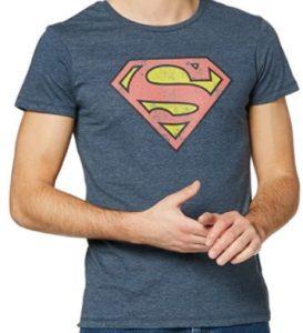 Camiseta de logo de Superman gris clara - Las mejores camisetas de Superman - Camisetas de DC