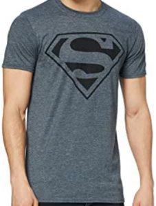 Camiseta de logo de Superman gris oscura - Las mejores camisetas de Superman - Camisetas de DC