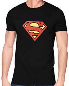 Camiseta de logo de Superman negra - Las mejores camisetas de Superman - Camisetas de DC