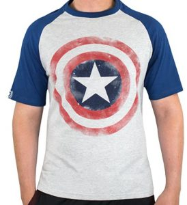 Camiseta de logo del Capitán América gris - Las mejores camisetas del Capitán América - Camisetas de Marvel