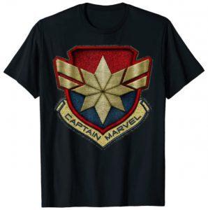 Camiseta de logo dorado de Capitana Marvel - Las mejores camisetas de Capitana Marvel - Camisetas de Marvel